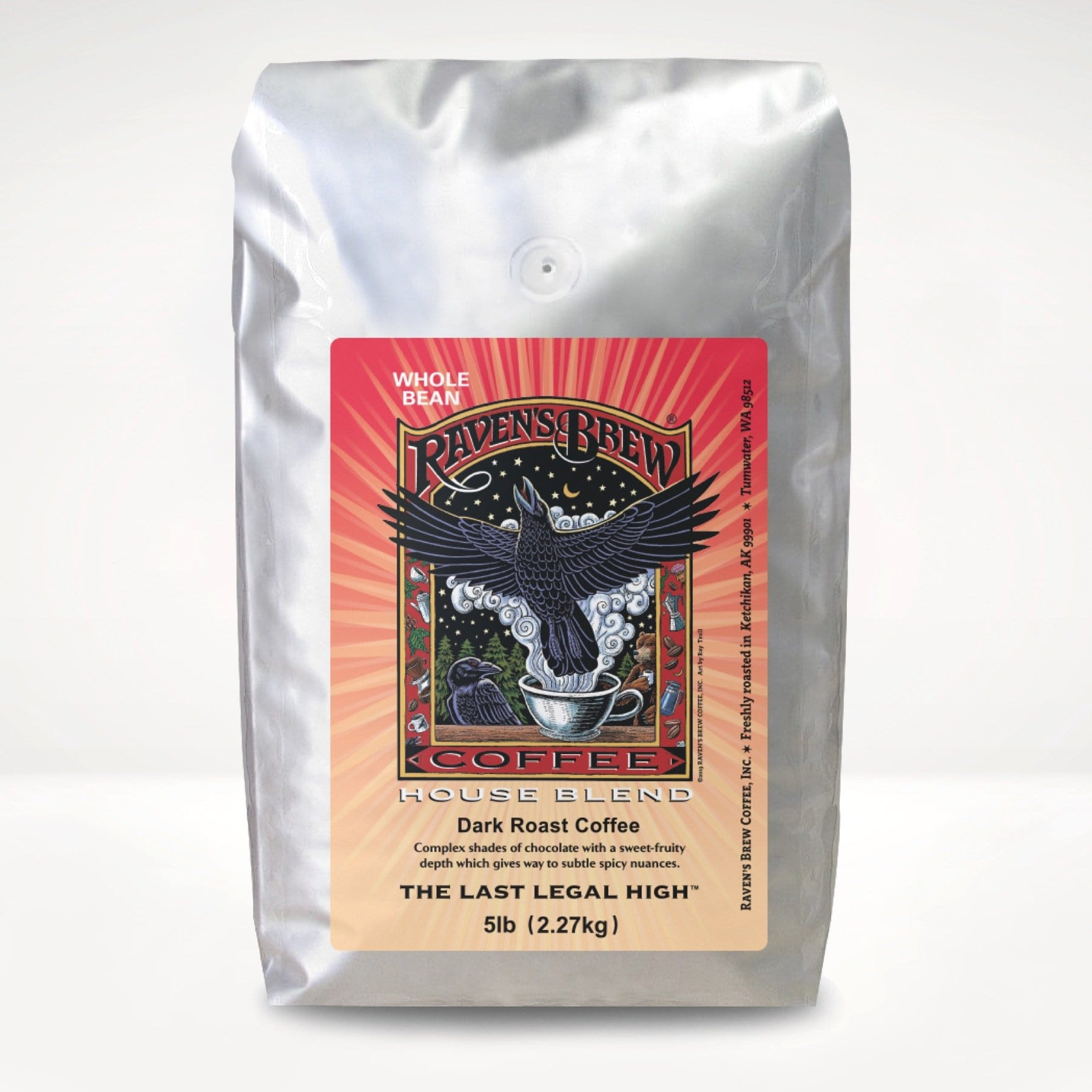 5lb Raven's Brew® House Blend Coffee