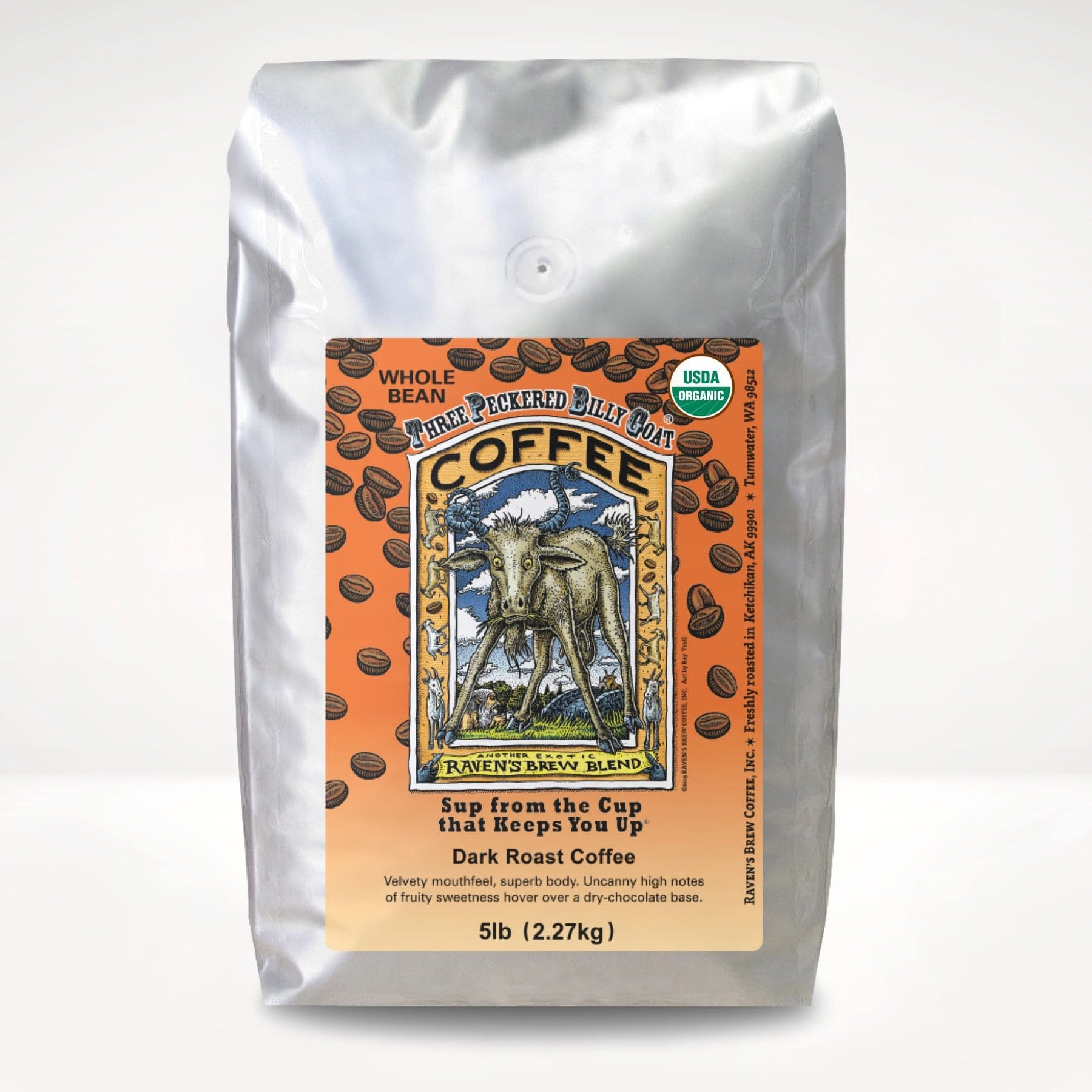5lb Organic Three Peckered Billy Goat® Coffee
