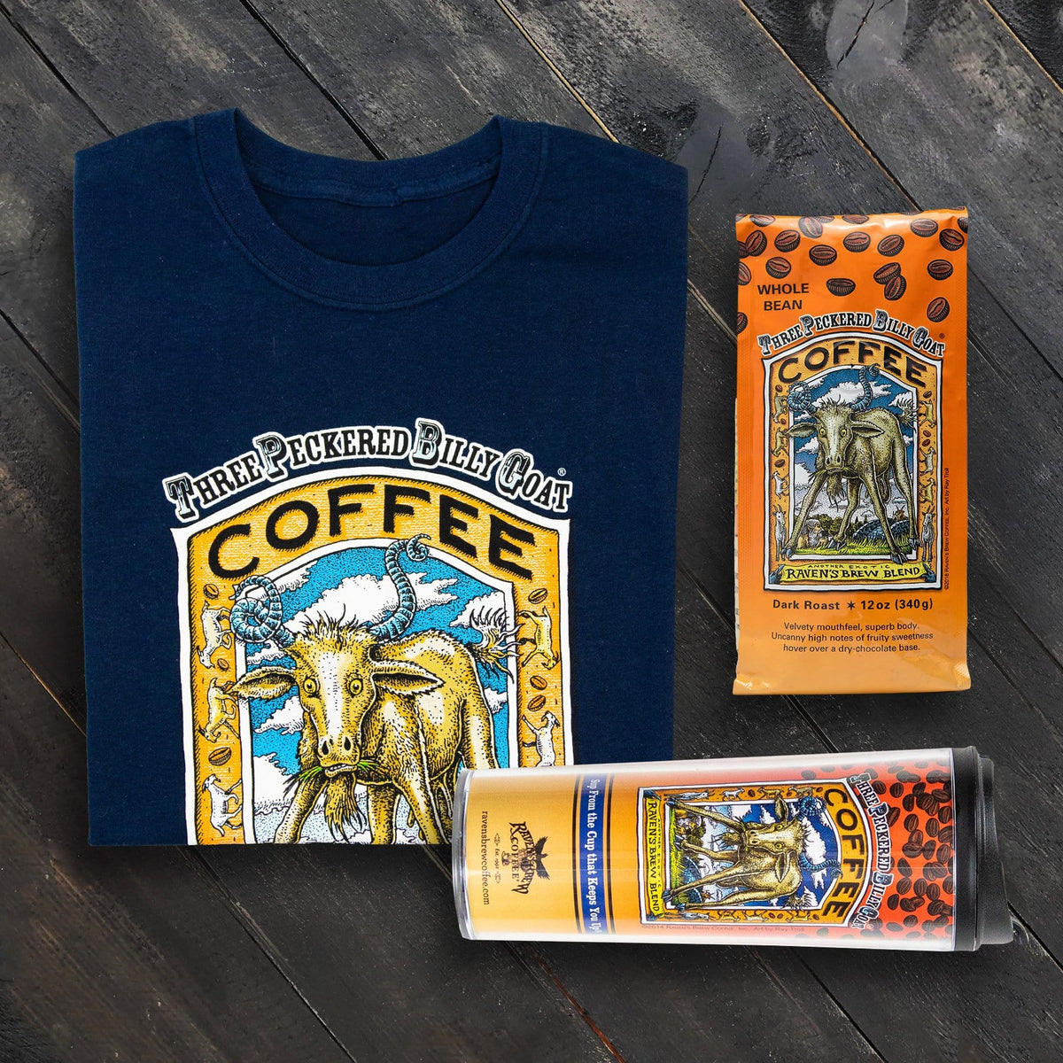 Adventure Pack with Three Peckered Billy Goat® Coffee