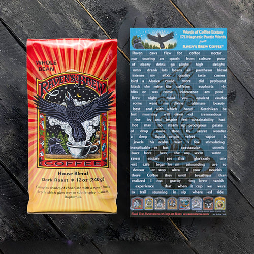 Raven's Brew Coffee® Poetry Magnet Set with Coffee