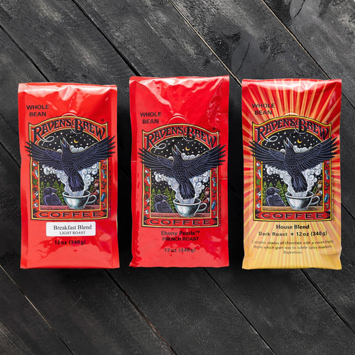 Threesome Set of Raven's Brew® Coffees
