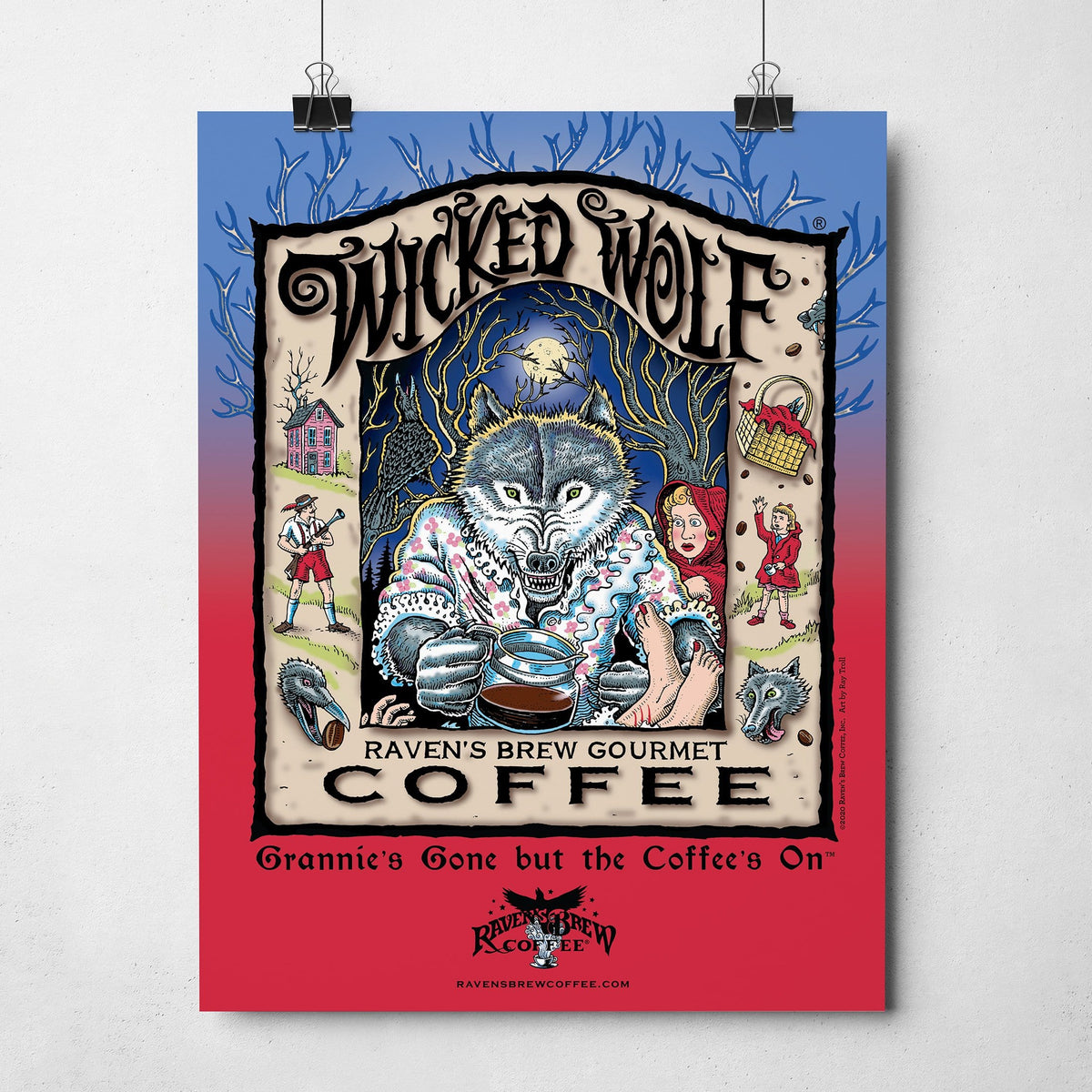 "Wicked Wolf® 11""x14"" Poster"