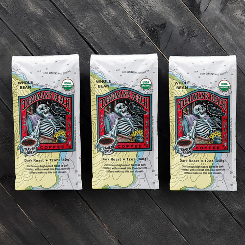 Threesome Set of Organic Deadman's Reach® Coffee