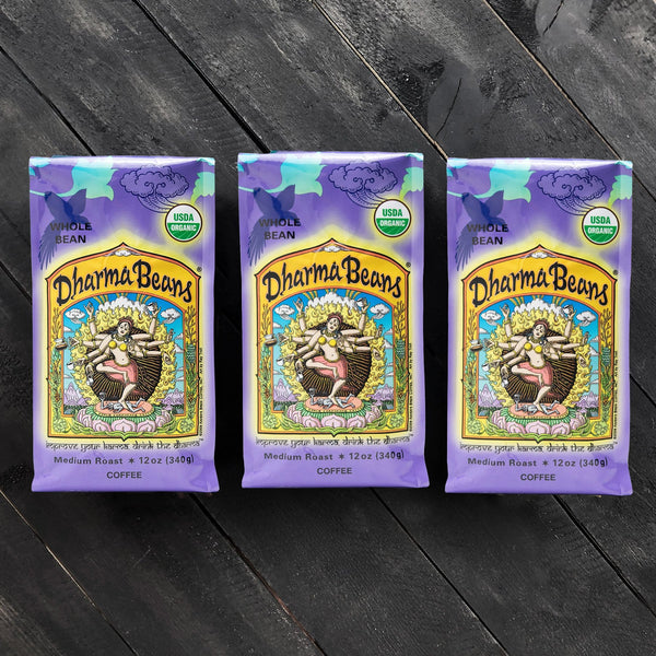 Threesome Set of Organic Dharma Beans® Coffee