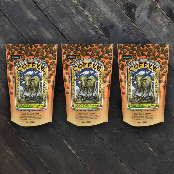 Three Peckered Billy Goat® Triplet of 3oz Bags