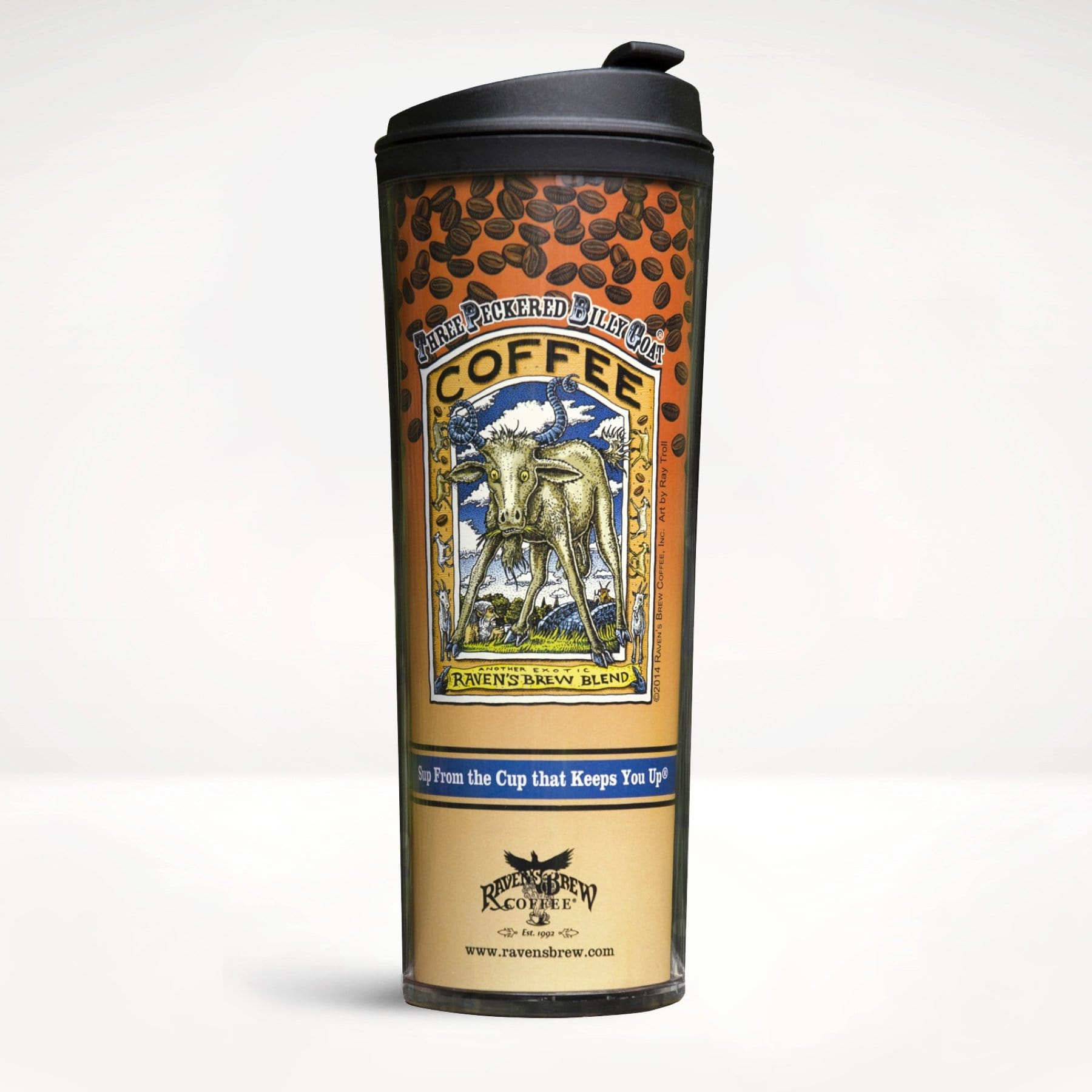 Three Peckered Billy Goat® Travel Tumbler