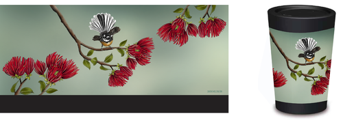 Travel Cup - Pohutukawa and Fantail