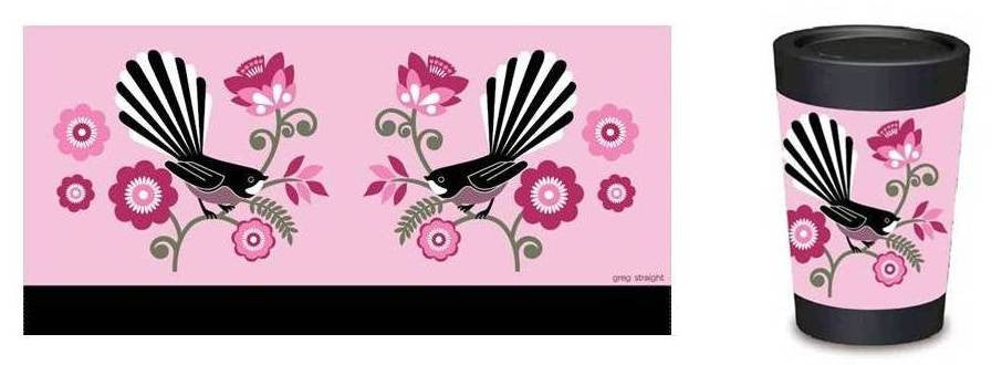 Travel Cup - Pink Fantail