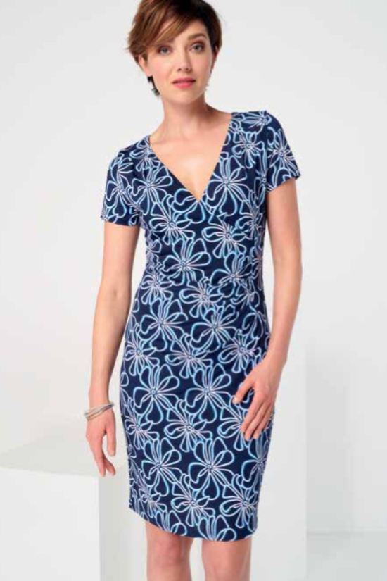 Stephanie Faux Wrap Dress