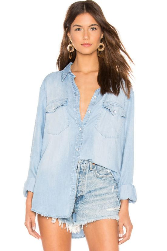 Boyfriend for Life Denim Shirt-Sanctuary-Jupe