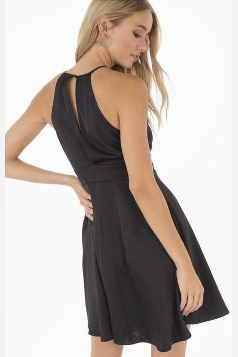 Brigitte Halter Dress-Black Swan-Jupe