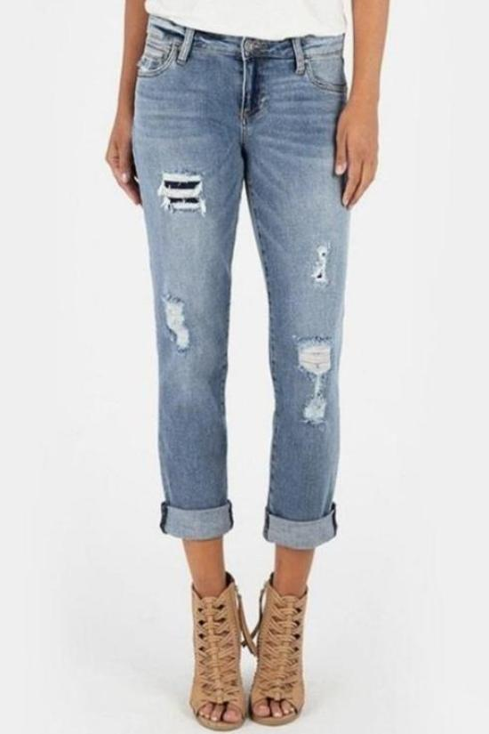 Catherine Boyfriend Jeans with Cut-out Pocket-Kut from the Kloth-Jupe