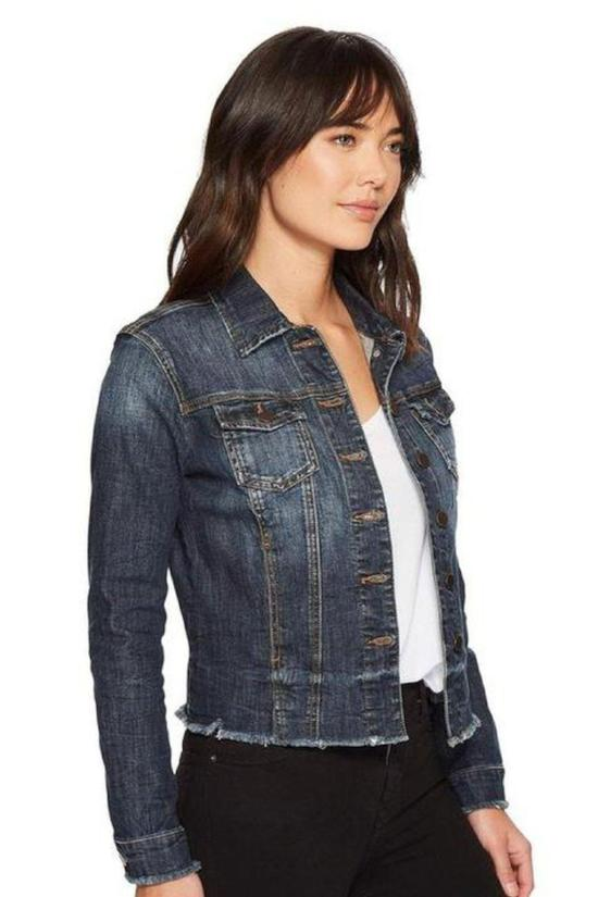 Freya Distressed Denim Jacket-Kut from the Kloth-Jupe