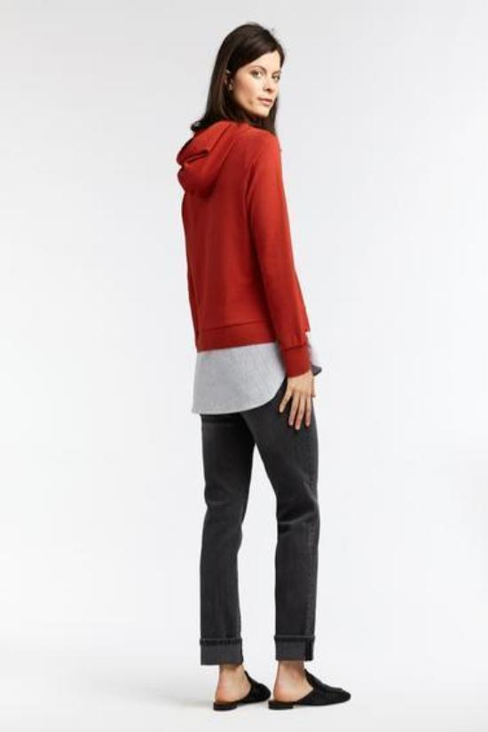 Hooded Sweater with Striped Bottom-Sandwich-Jupe