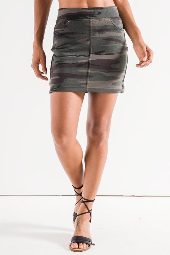 Kinsley Camo Skirt-Z Supply-Jupe