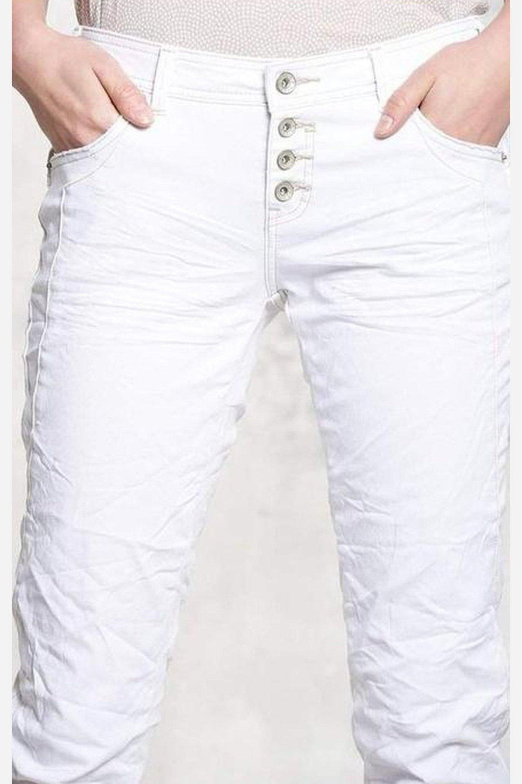 Raina White Denim-Nile Atelier-Jupe
