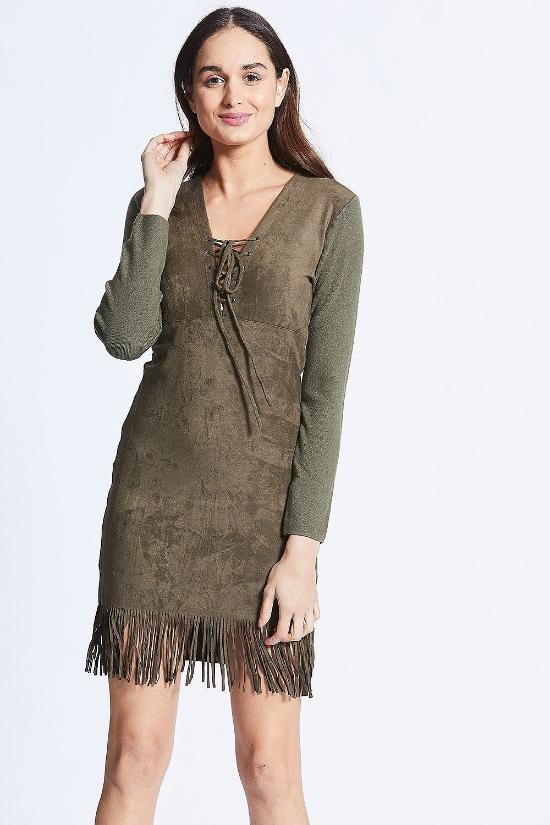 Renata Faux Suede Dress-Jupe-Jupe