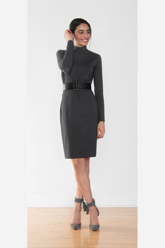 Taryn Turtleneck Dress-Miik-Jupe