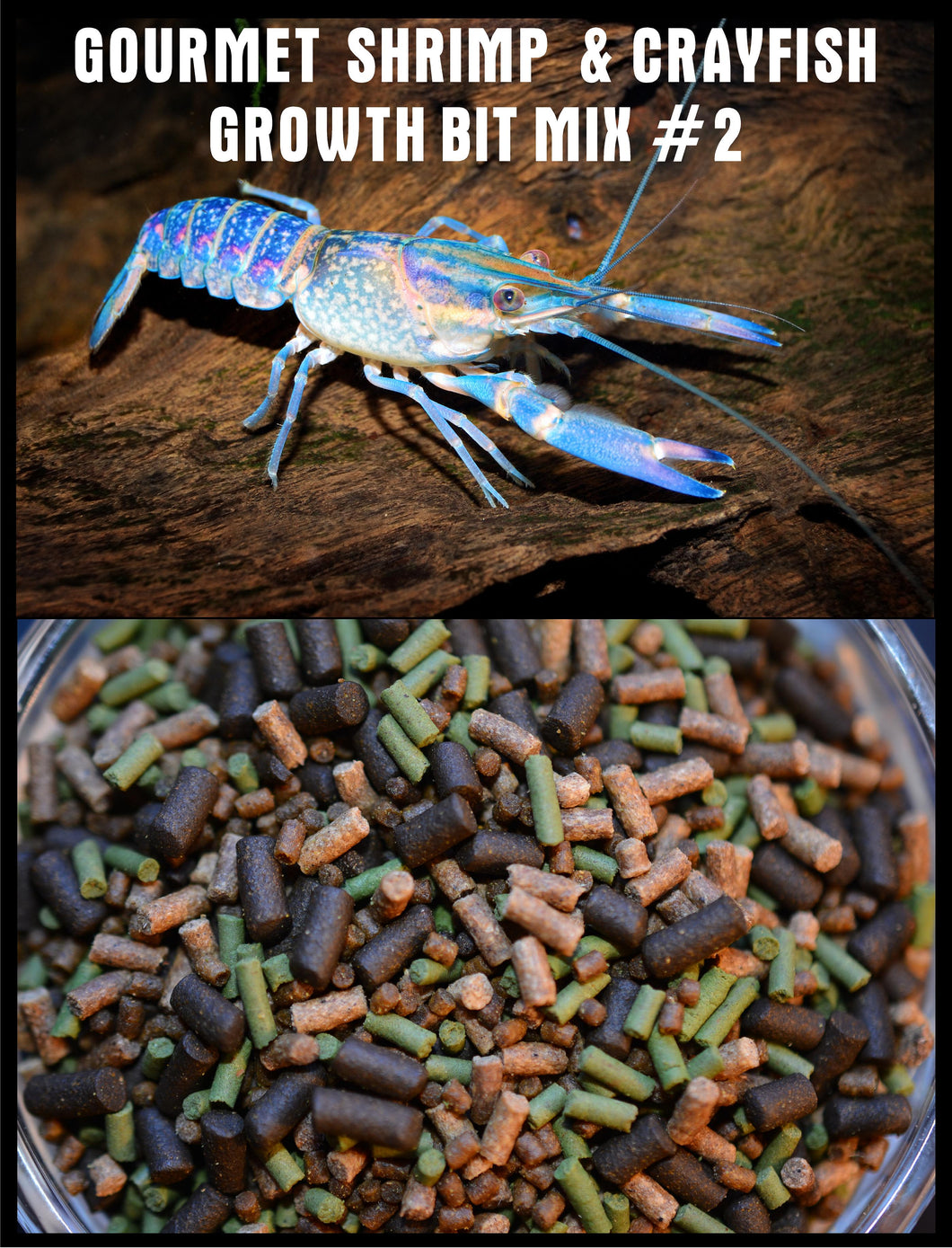 GOURMET CRAYFISH & SHRIMP GROWTH BIT MIX #2 ABF163