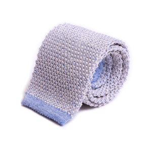 Linen and Silk Knit Tie