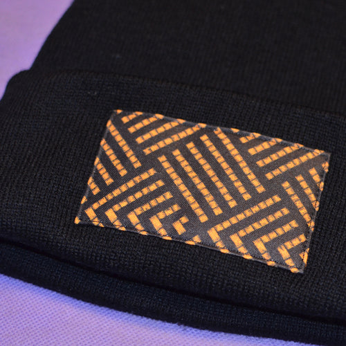 Gold Orange Pātiki Patched Beanie