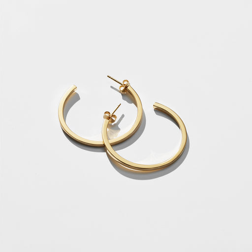 Bewilder Hoop Earrings - Gold