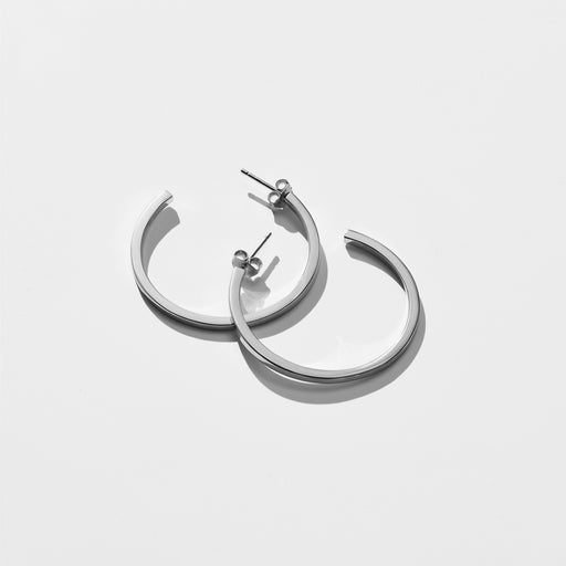 Bewilder Hoop Earrings - Silver