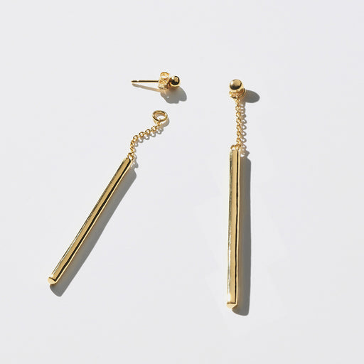 Fallen 2-in-1 Drop Earrings - Gold