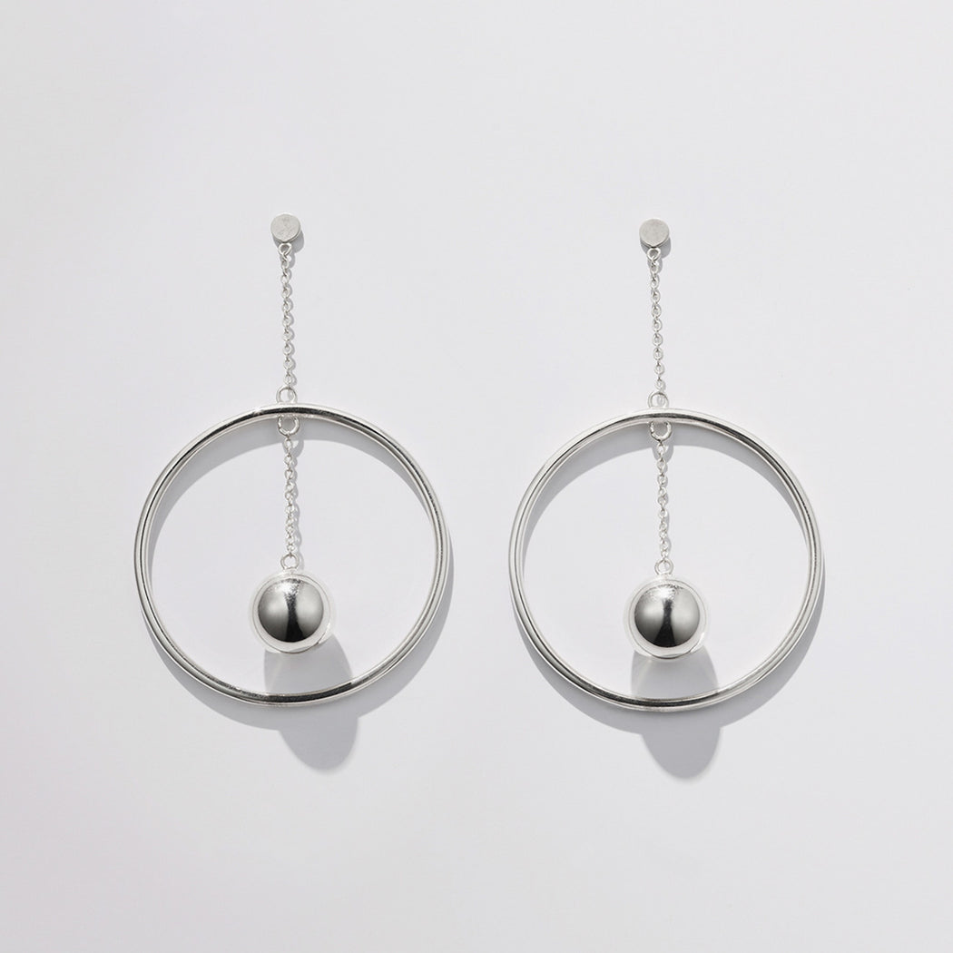 Modus Earrings - Silver