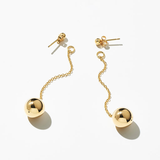 Orbis 2-in-1 Drop Earrings - Gold