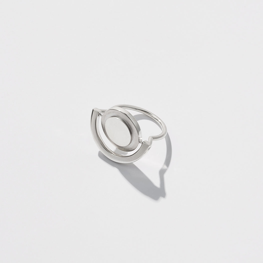 Unruly Time ring - Silver