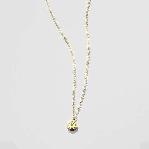 Worth the Wait letter necklace - Gold (a-z)