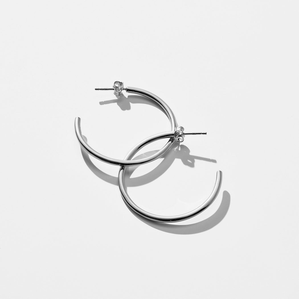 Astray Hoop Earrings - Silver