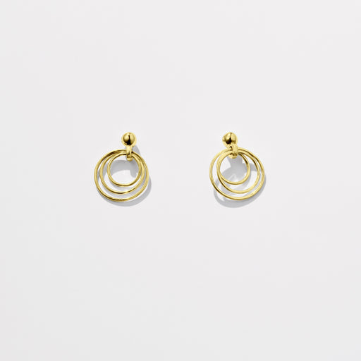 Observer earrings small - 9ct Gold