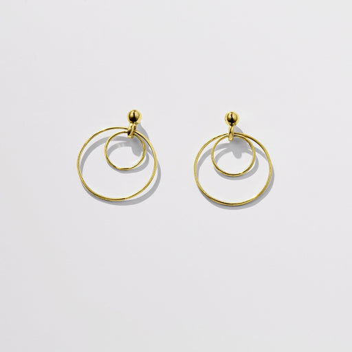 Observer earrings large - Solid Gold