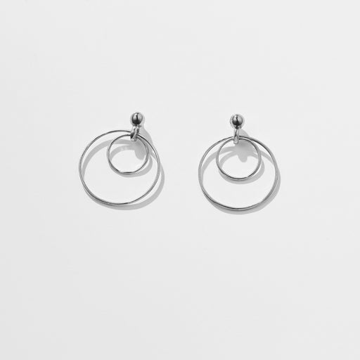 Observer earrings large - Silver