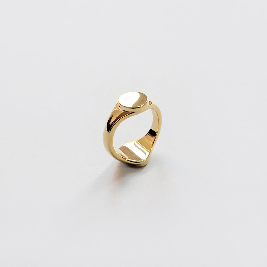 Then & Now Signet Ring - Gold
