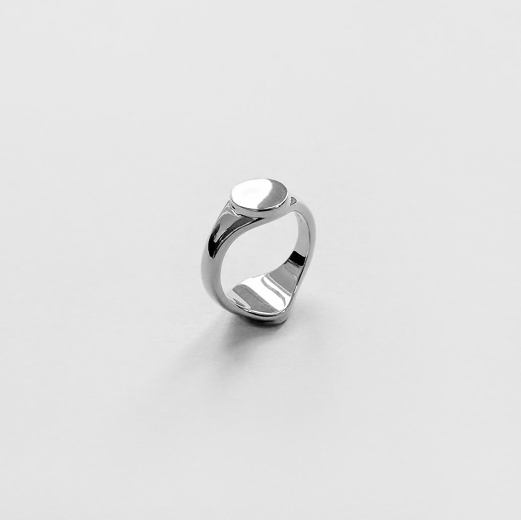h silver number d product ring plain signet square samuel webstore sterling