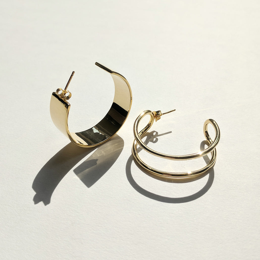Formation hoop earrings - Gold