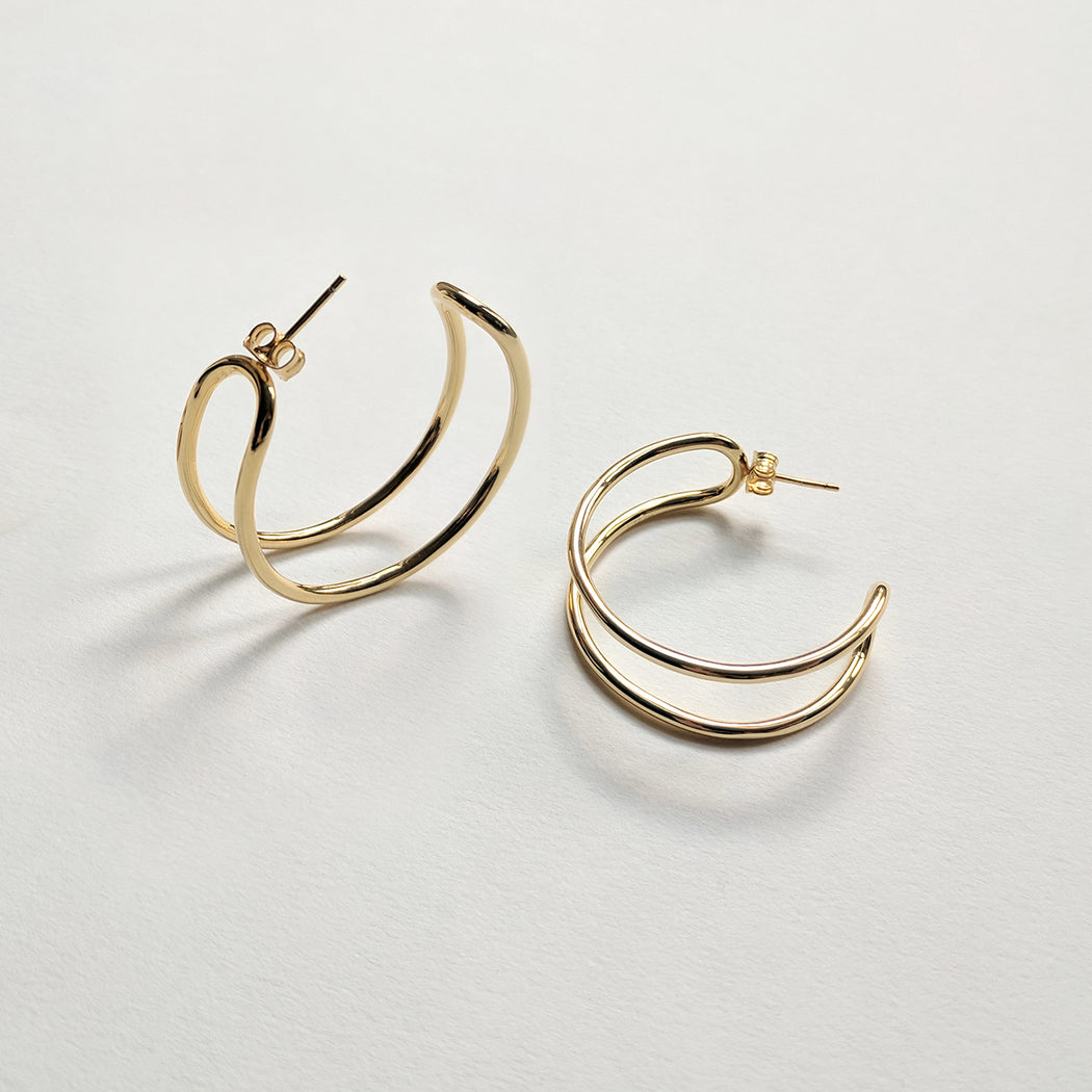 Formation hoop earrings - Wire - Gold