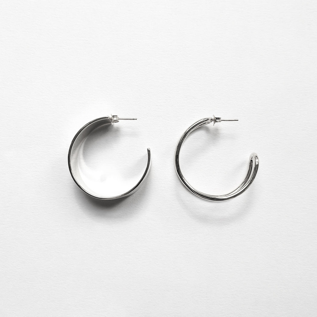 Formation hoop earrings - Wire - Silver