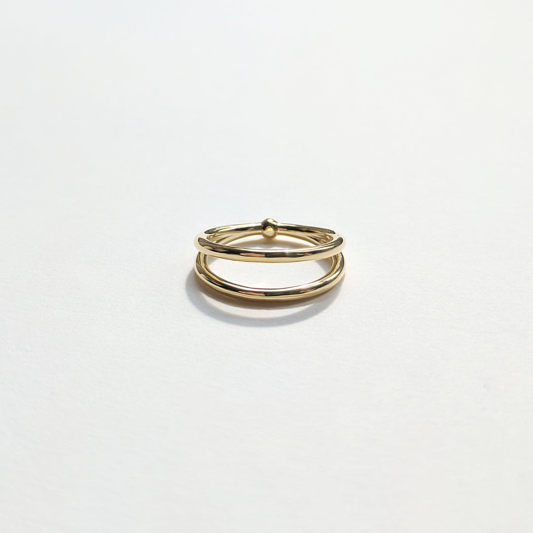 The Split ring - Gold