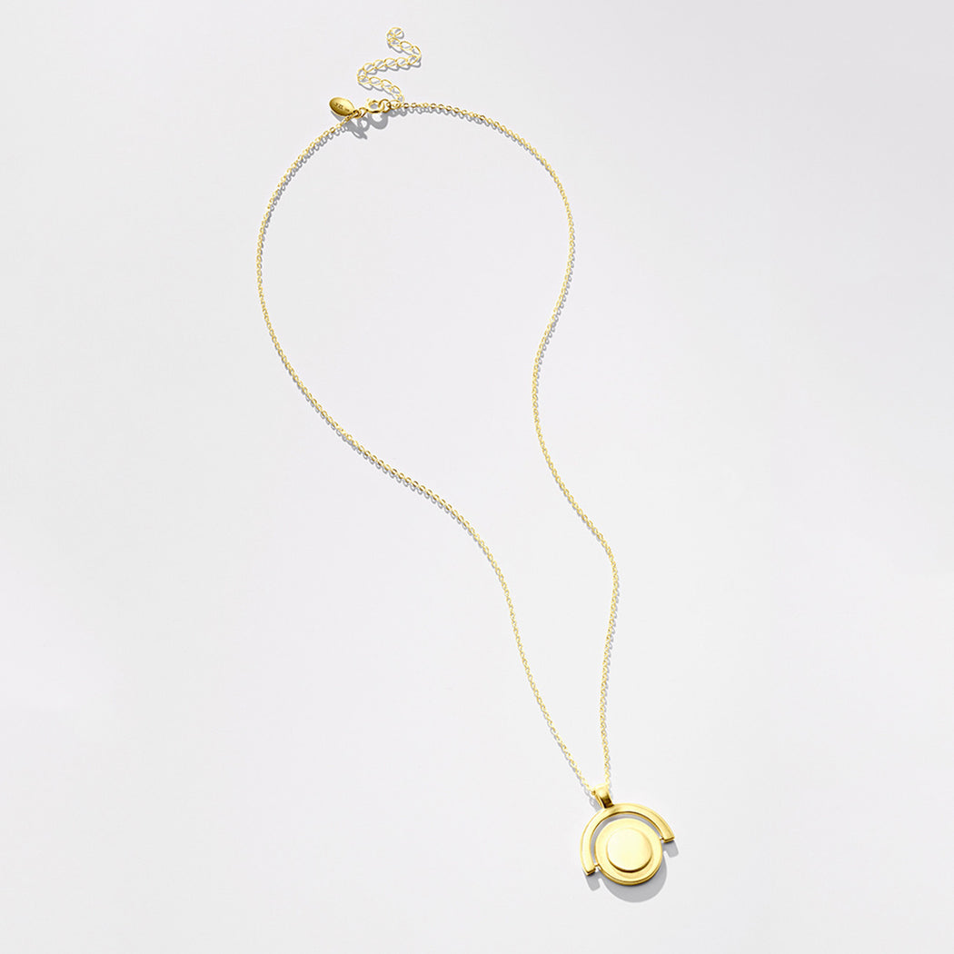 Unruly Time necklace - Gold