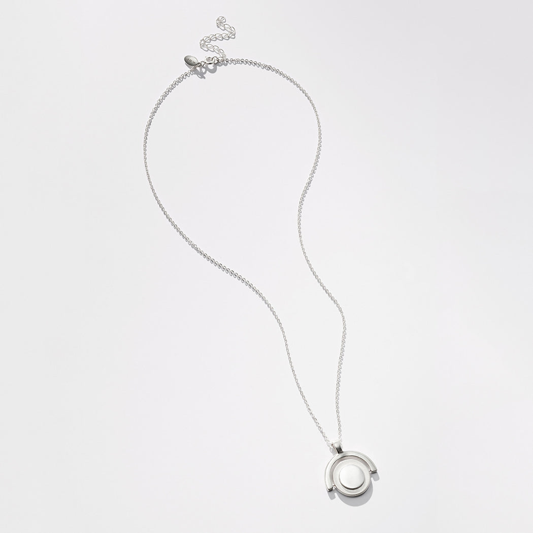 Unruly Time necklace - Silver