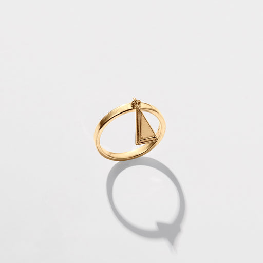 Two Moments Ring - Matte Gold