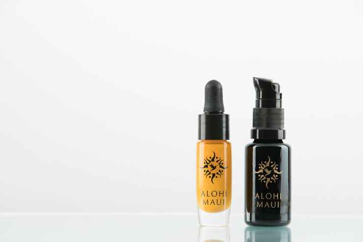 'Alohi Golden Oil and 'Alohi Water Refillable Travel Set