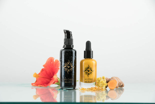 'Alohi Golden Oil and 'Alohi Water Refillable Vanity Set