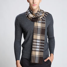 Load image into Gallery viewer, Plaid Striped Wool Scarf