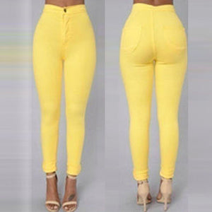 Candy Color Slim Stretch Pants