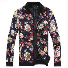 Load image into Gallery viewer, Floral Print Zipper Jacket